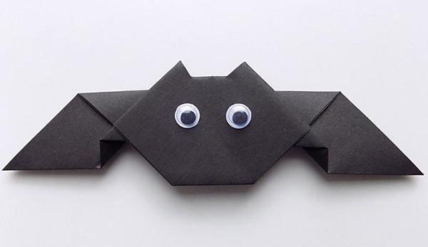 Летучая мышь оригами