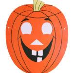 Шаблон маски-тыквы на хэллоуин