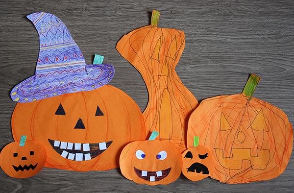 Тыквы на хэллоуин из бумаги
