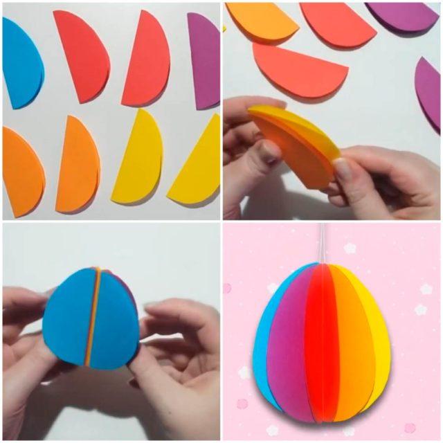 Яйцо из бумаги