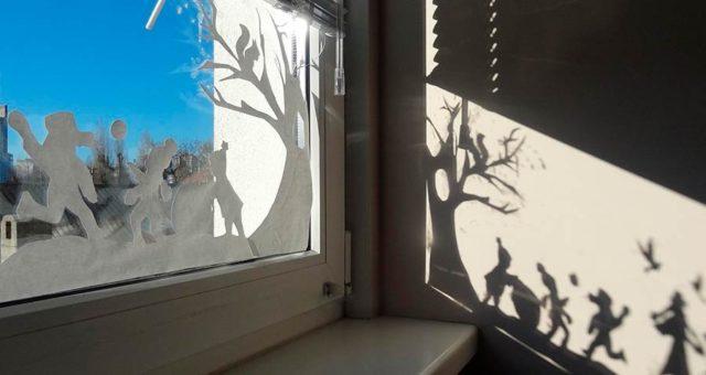 Вытынанки на окне